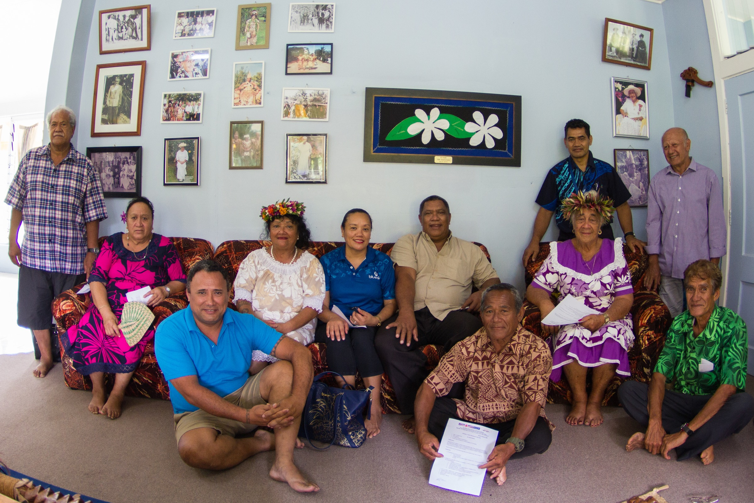 Members of the House of Ariki—Photograph by Brian Zgliczynski/100 Island Challenge