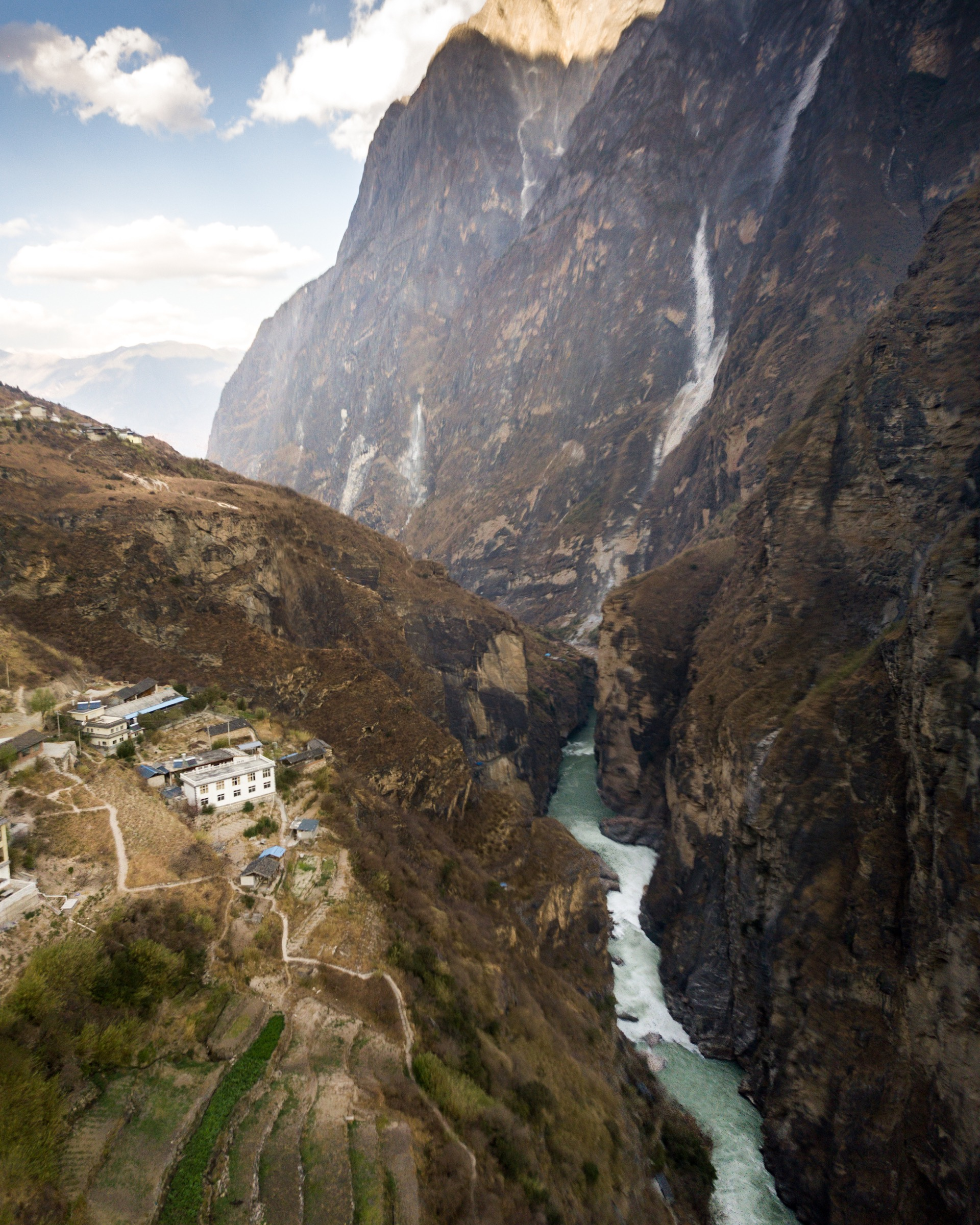 Before the Yangtze runs out into the more densely populated eastern China, it cuts through countless dramatic mountains landscapes. Photograph by Kyle Obermann
