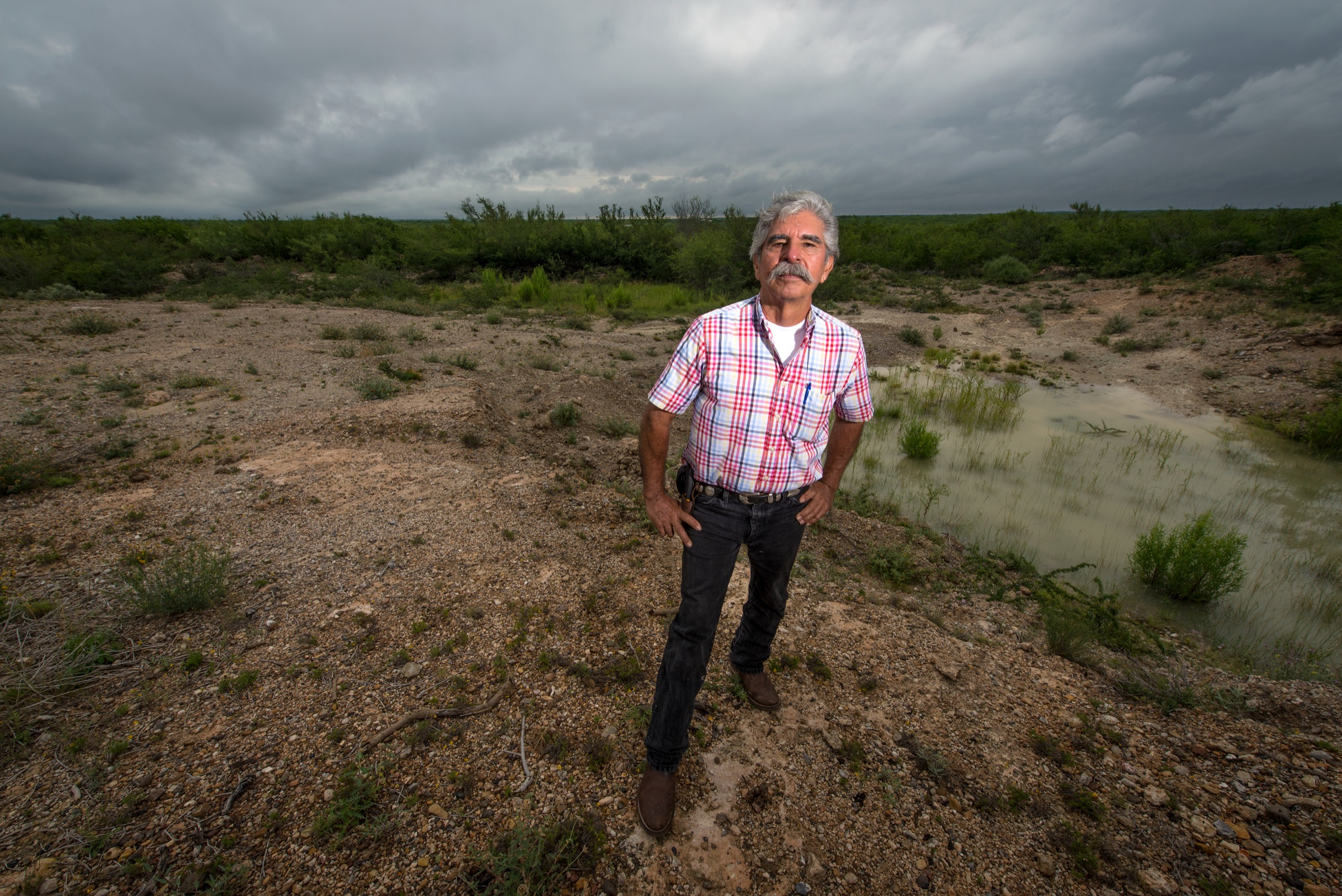 Ethnobotanist Benito Treviño at his property, Rancho Lomitas, located 8miles north of Rio Grande City, Texas