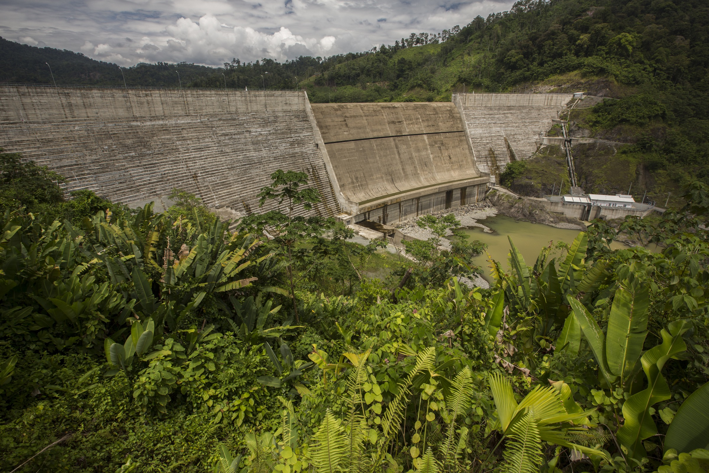 The 325-foot-high Changuinola I Dam forced the relocation of more than 1,000 Indigenous people near La Amistad World Heritage Site, a protected area that straddles Costa Rica's border with Panama.