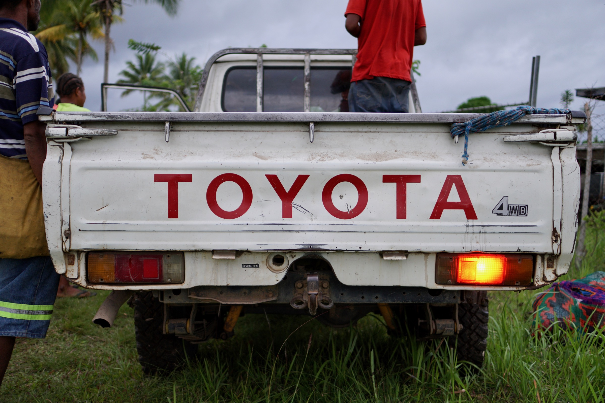This Toyota Land Cruiser provides the only form of public transportation onto and off of the Managalas Plateau. Photograph by Ethan Linck