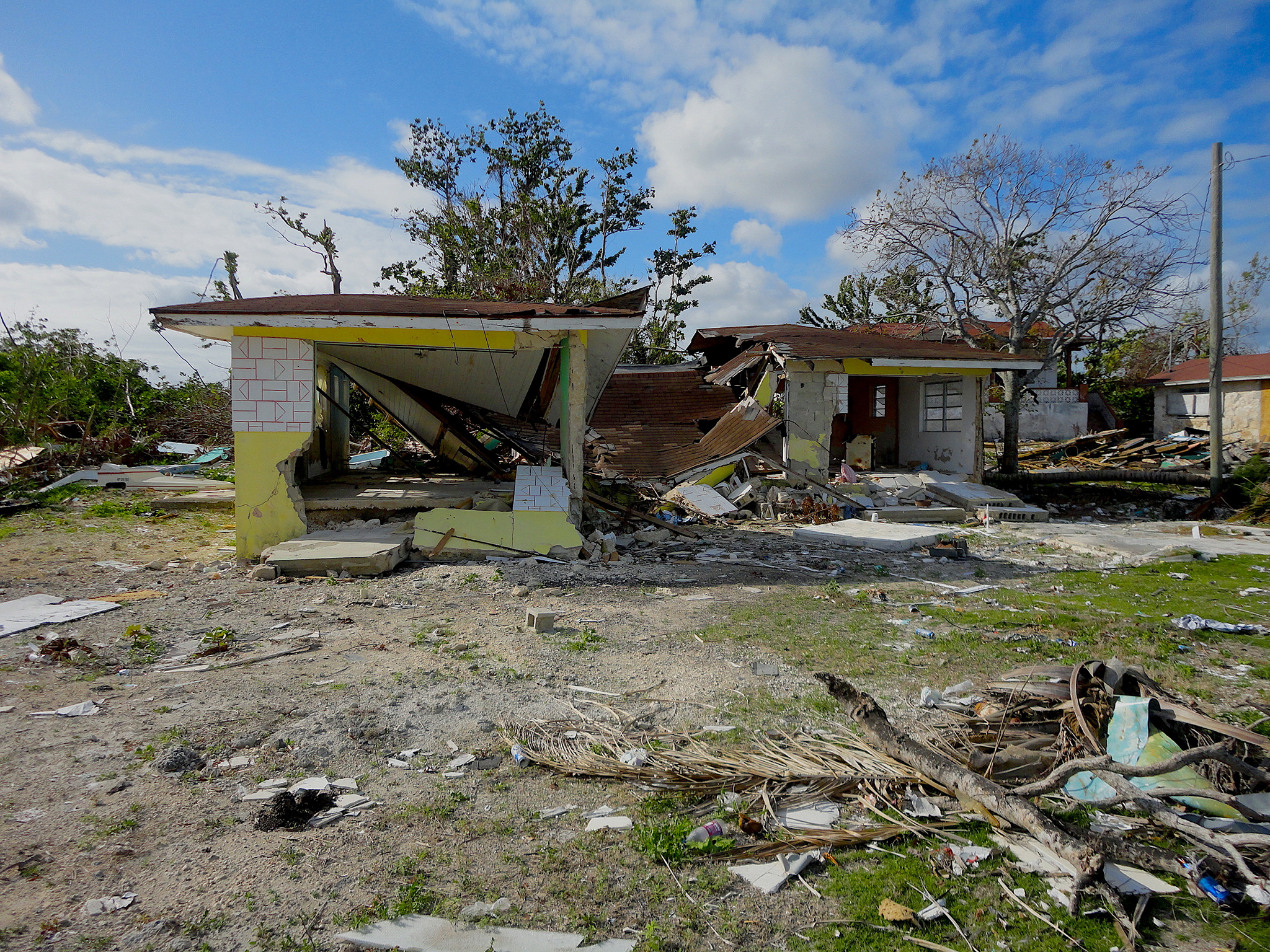 Hurricane Matthew spared few structures on Andros Island, and many, like these homes, were left uninhabitable in the storm's wake. Photograph by David Brian Butvill