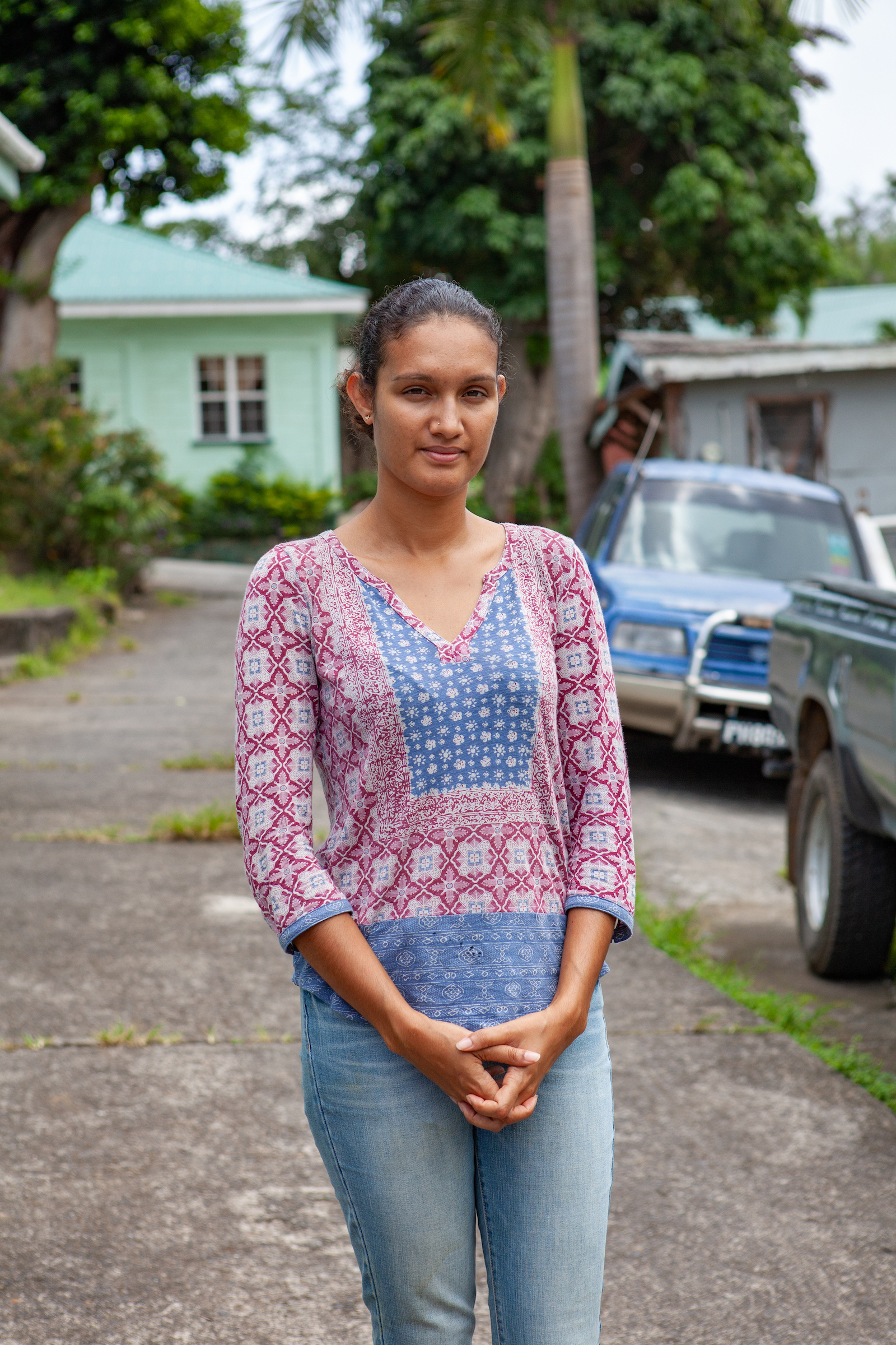 Jeanelle Brisbane, founder of the nonprofit WildDominique, is part of a younger generation energizing mountain chicken conservation efforts on Dominica. Photograph by Geoffrey Giller