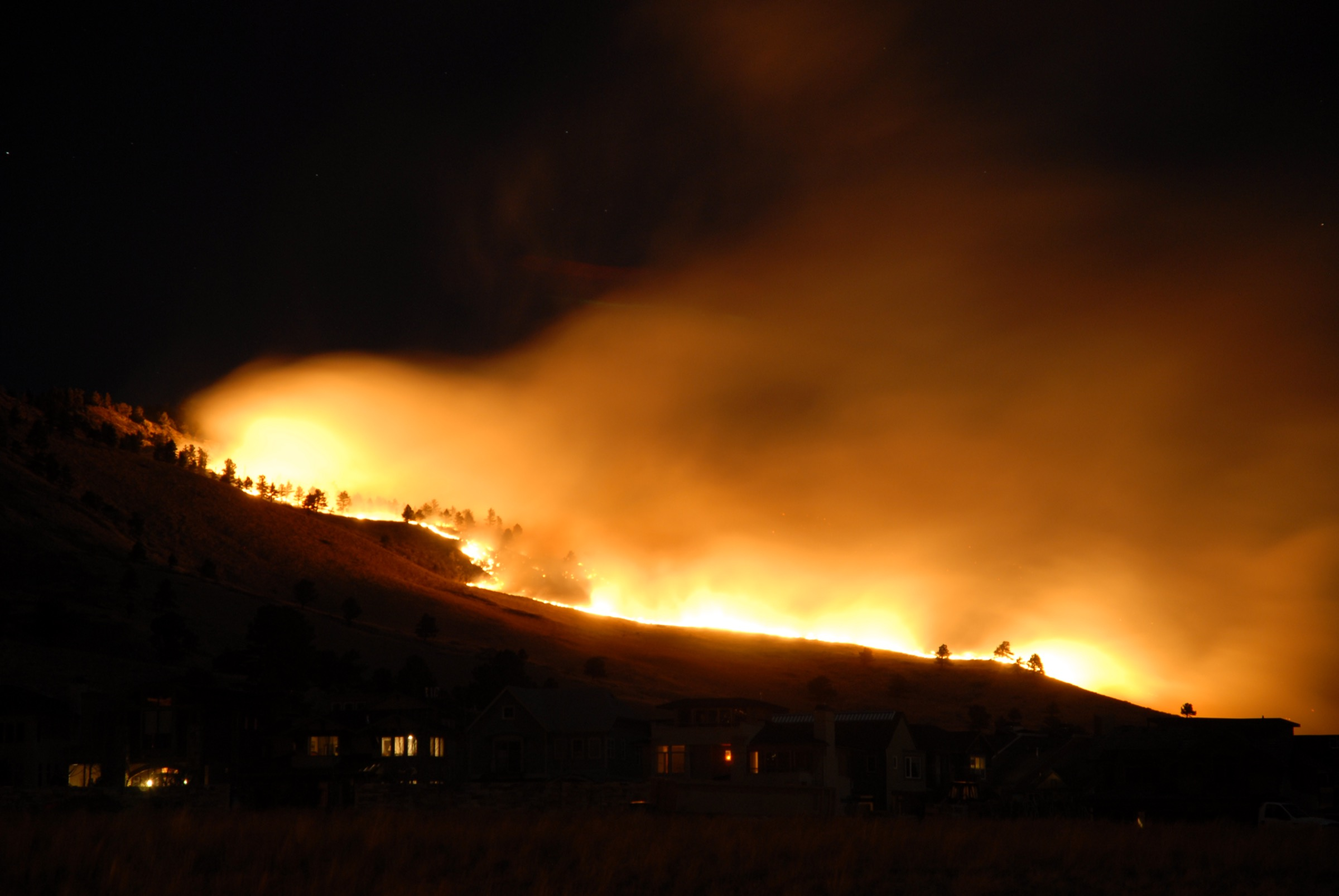 View of the 2009 fires in Boulder. Photograph by Eric Anderson