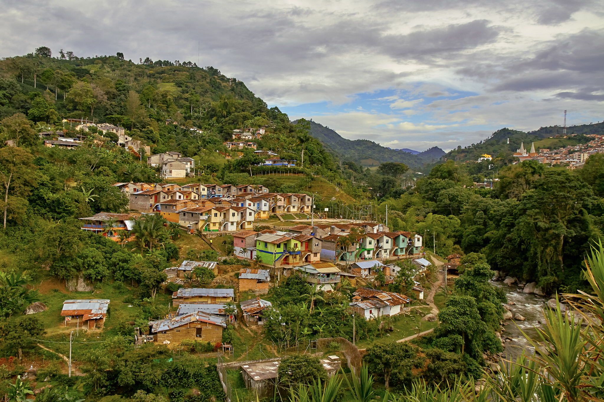 The town of Jardín, in northwest Colombia, is nestled in the Andes and is known for its brightly colored houses. Photgraph by Pedro Szekely
