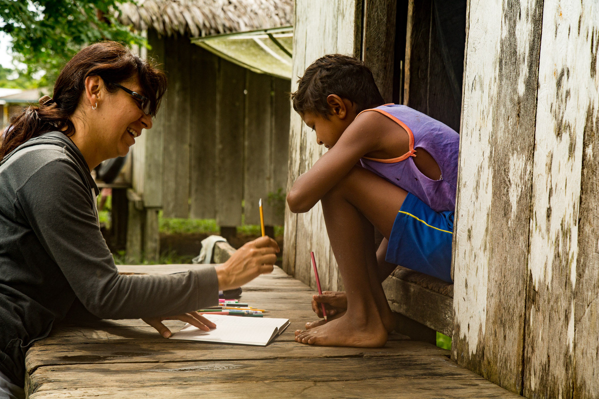 Mexican scientist Alejandra Duarte works with riberinho families to understand their use of resources from the surrounding rainforest and its impact on primates.