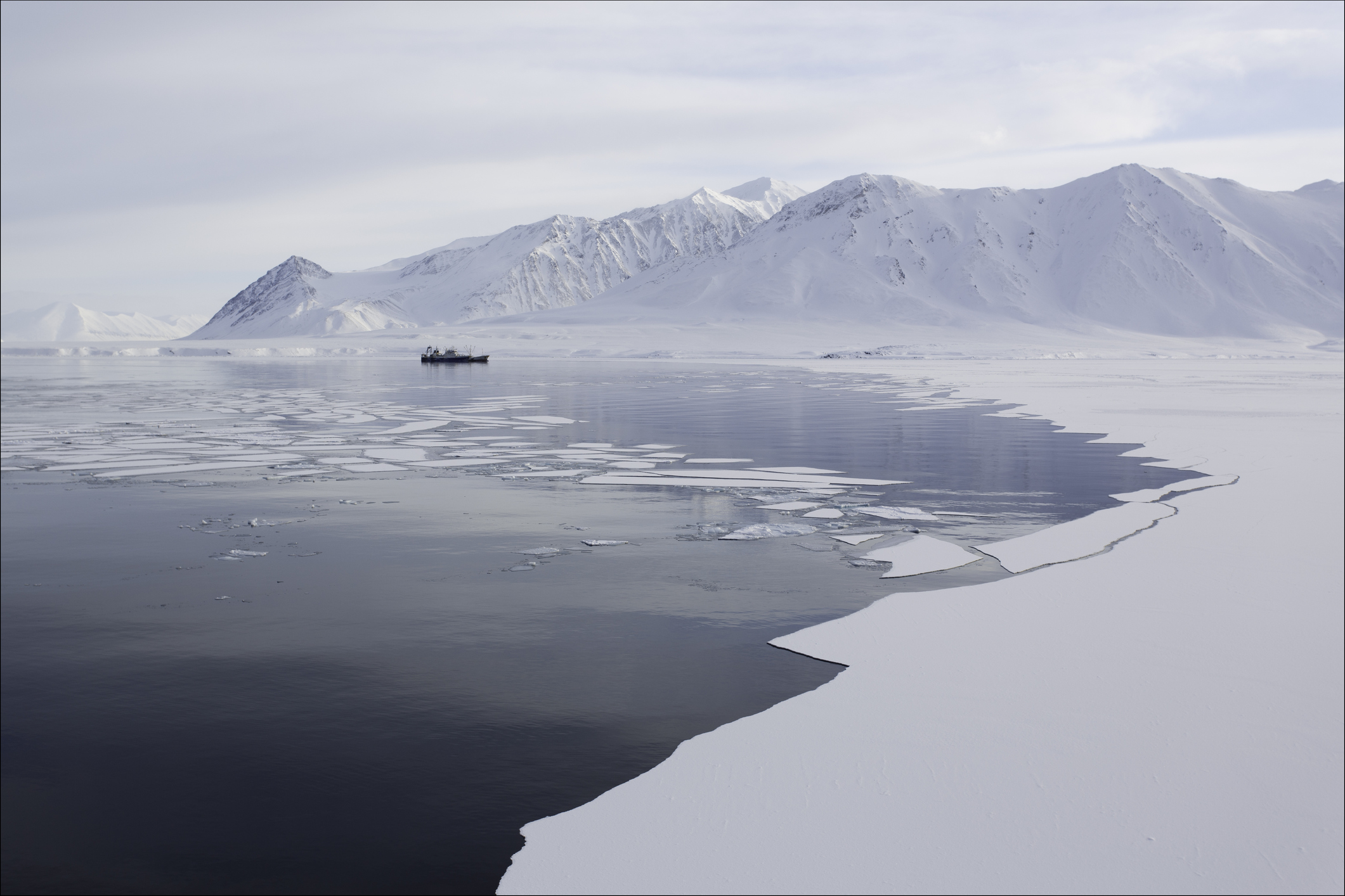 Territorial disputes in the Arctic make for an uncertain future as countries lay claim to vast swaths of offshore territory—vying for exclusive rights to drilling, fishing, and other economic activities. Photograph by H?kon Kj'llmoen Photography/Getty Images
