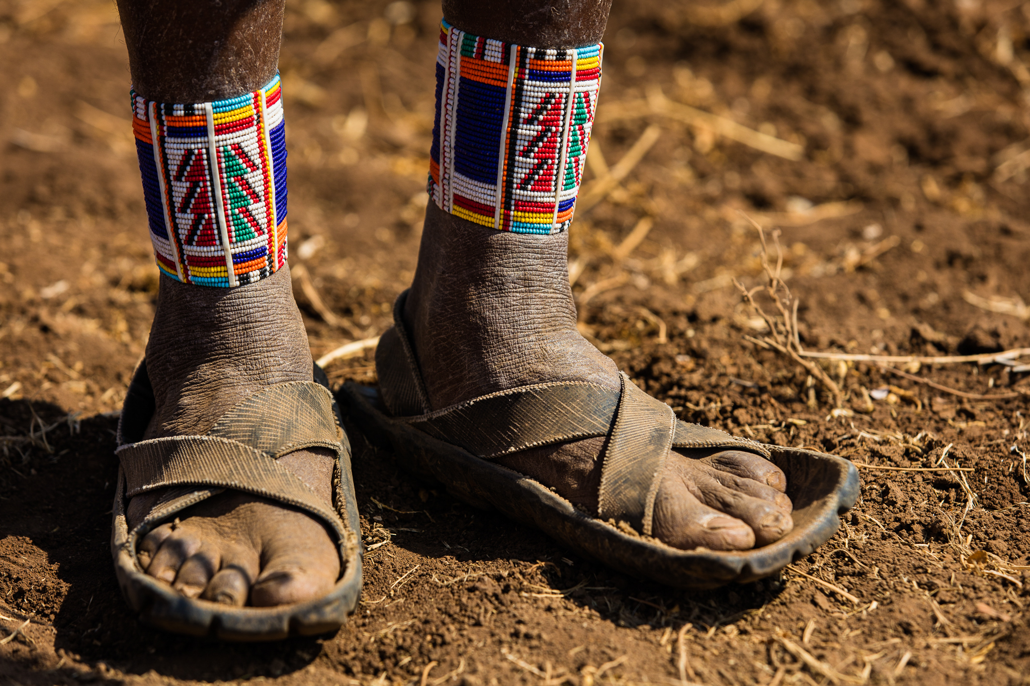 Nothing is wasted in Kenya, and old car tires have become a popular material for sandals.