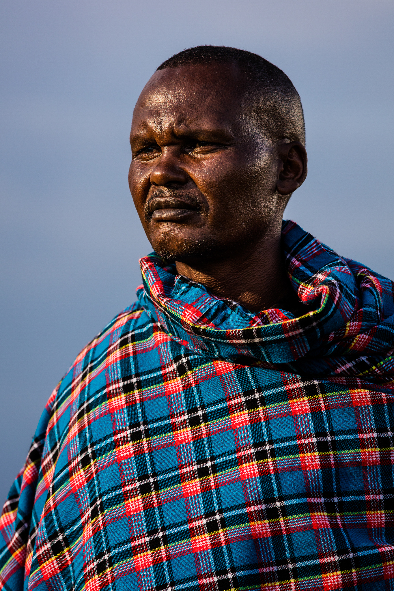 "Mark Ole Njapit, also known as ""Pilot,"" is a respected elder in the Maasai community of Ngerende."