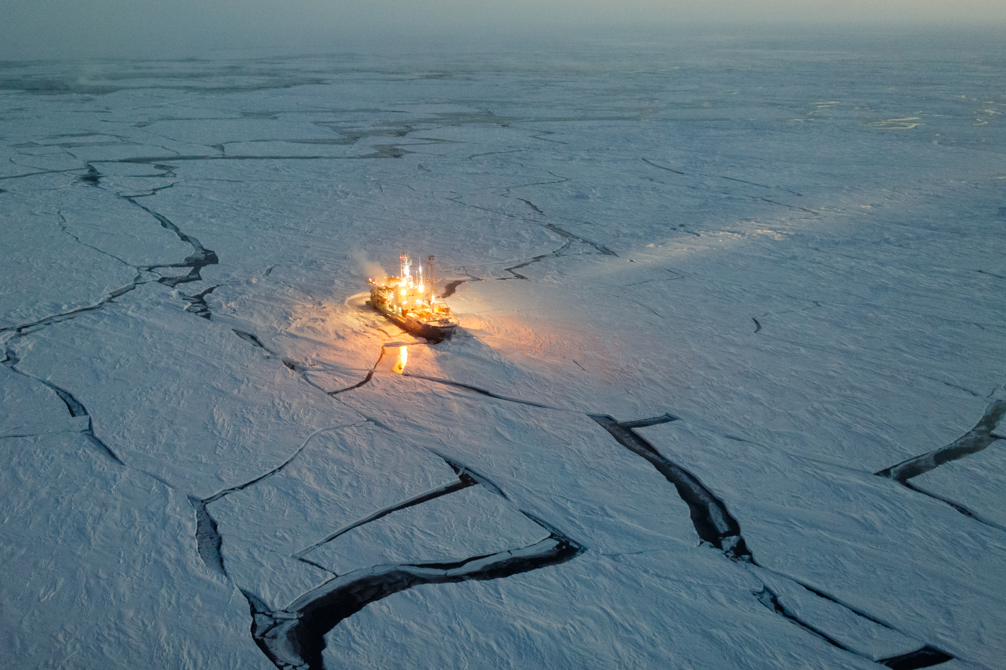 The Norwegian Young Sea Ice Cruise spent six months aboard the R/V Lance in 2015 to study the effects of global warming on the Arctic. Photograph by Nick Cobbing, National Geographic