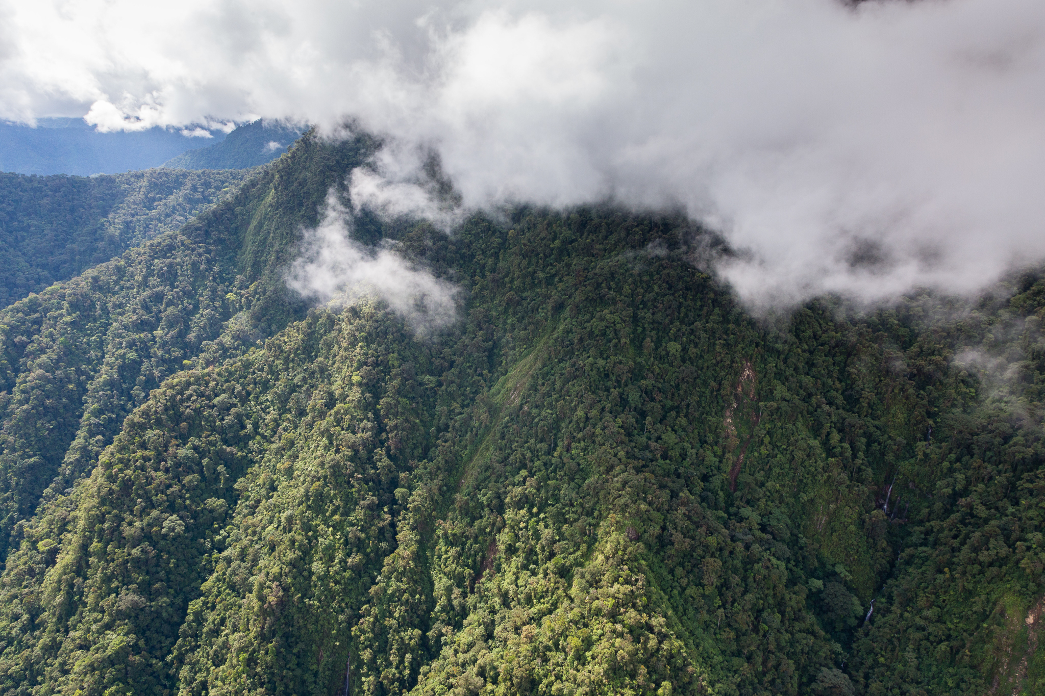 Dense cloud cover over the Vilcabamba range. Photo by Andy Isaacson