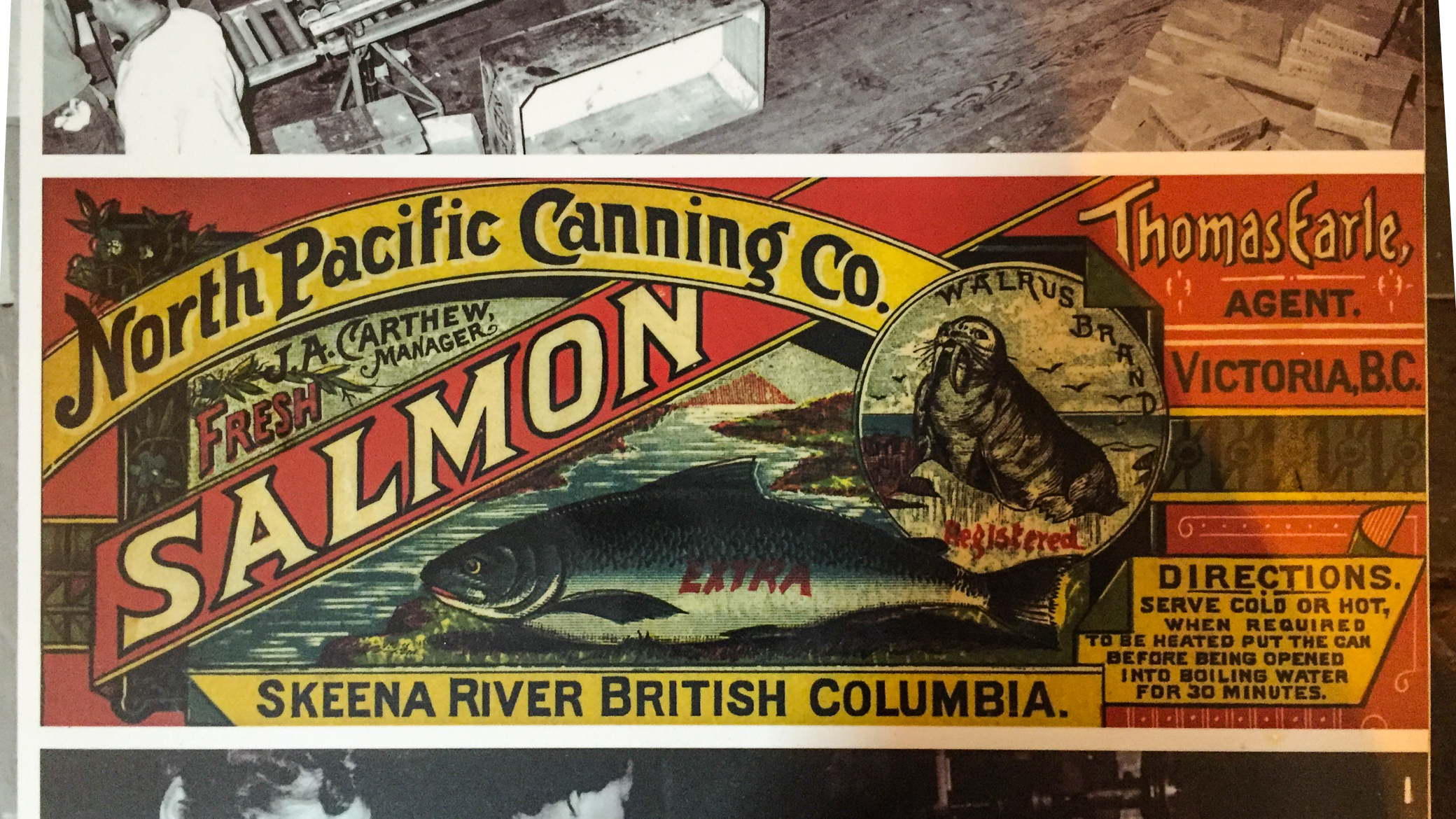 The Skeena salmon industry was once a booming business, and shipped fish around the world. Photo by David Wolman