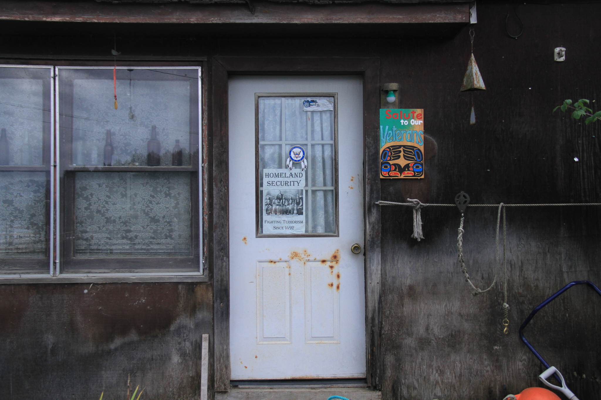 A residence in Hoonah, an Alaska Native village in the state's Alexander Archipelago.