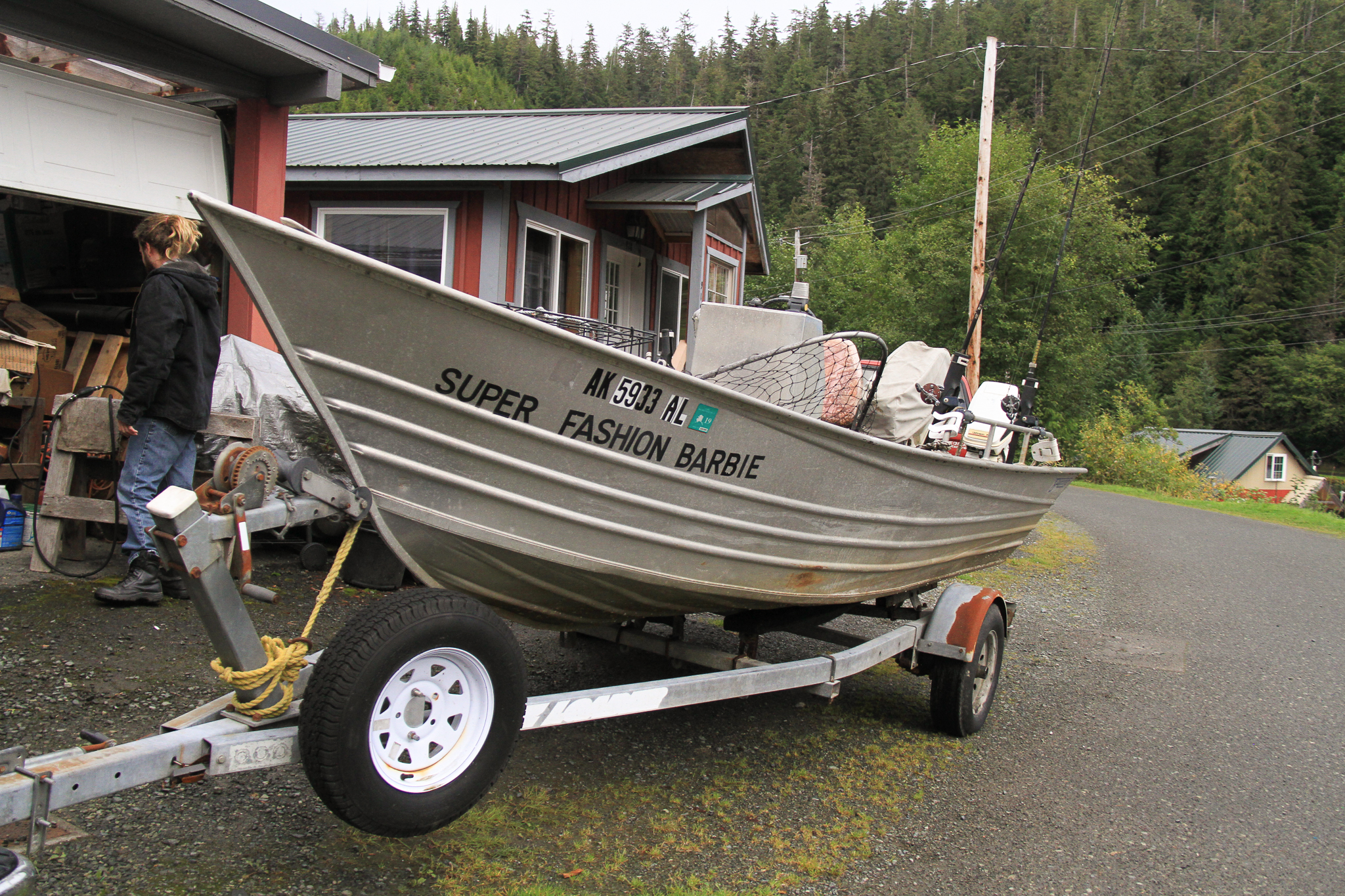 Fishing for salmon is culture, recreation, income, and staple food source in Southeast Alaska's island and coastal communities. This boat belongs to a former Forest Service silviculturalist in Thorne Bay, Alaska.