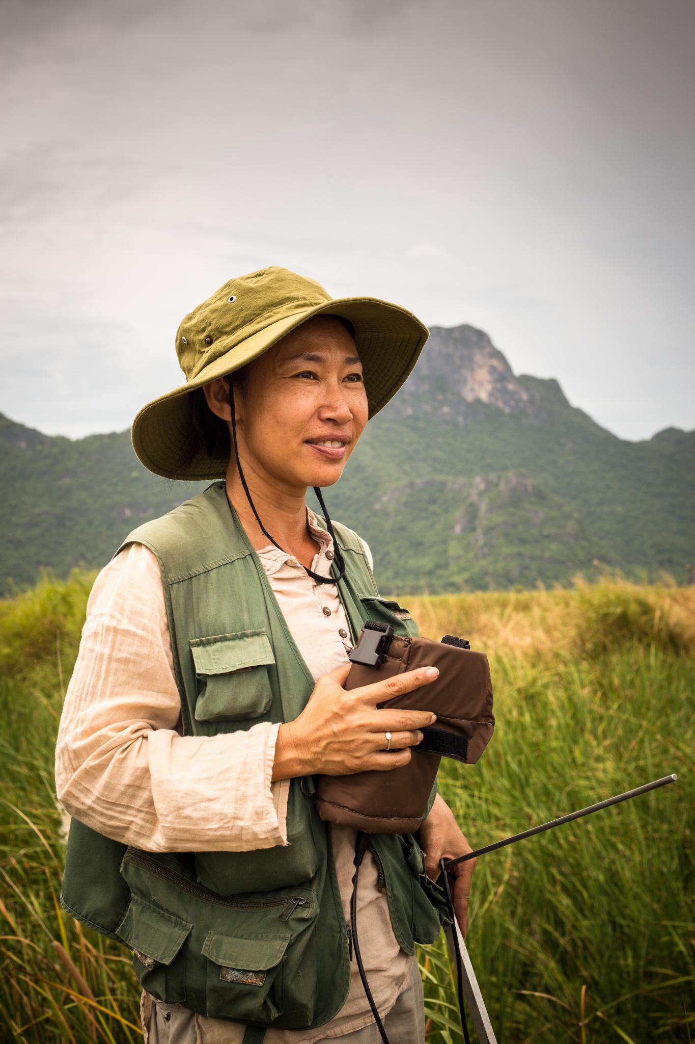 "Portrait of Passanan ""Namfon"" Cutter, fishing cat biologist"
