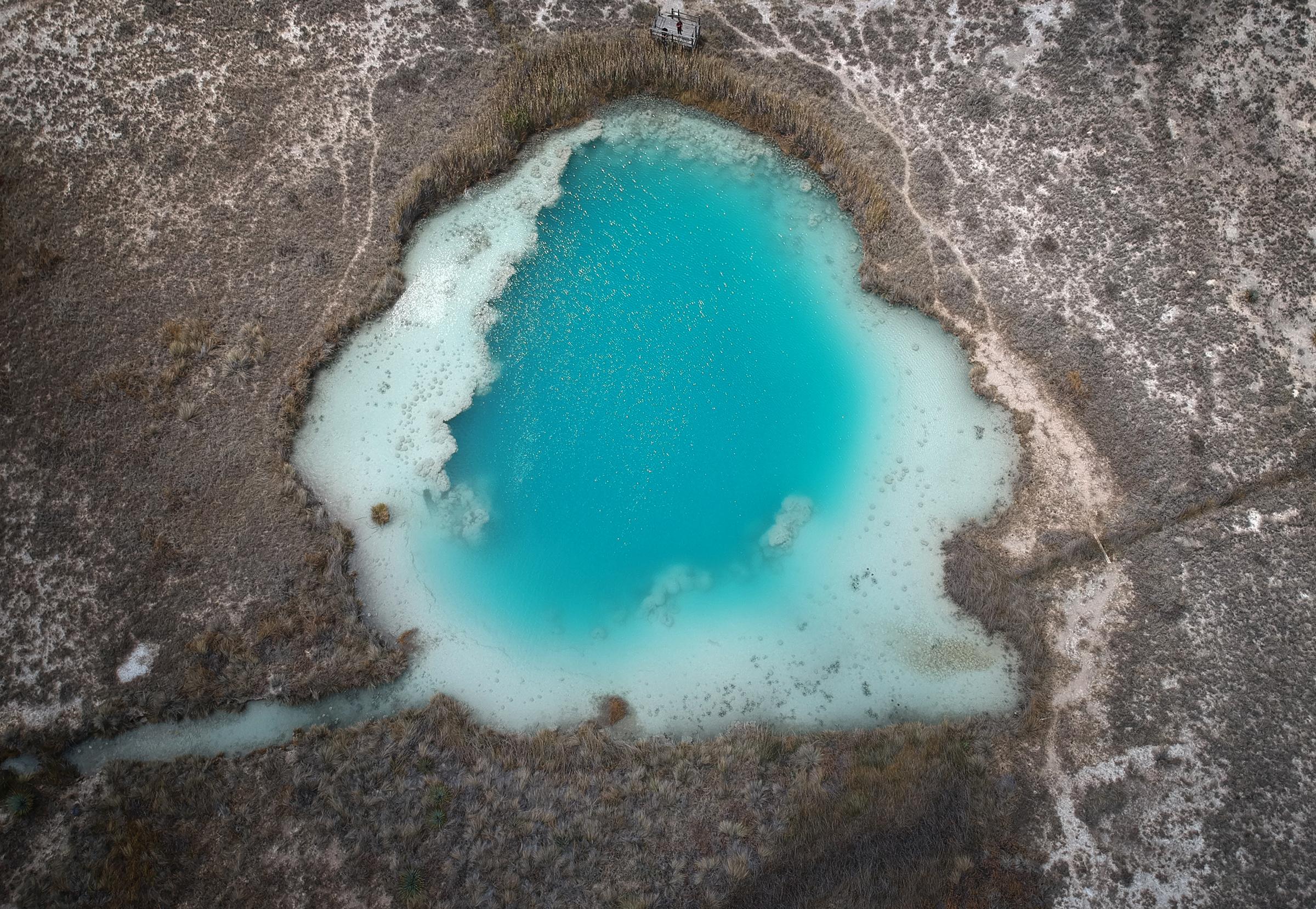 Aerial view of Mexico's Cuatro Ciénegas