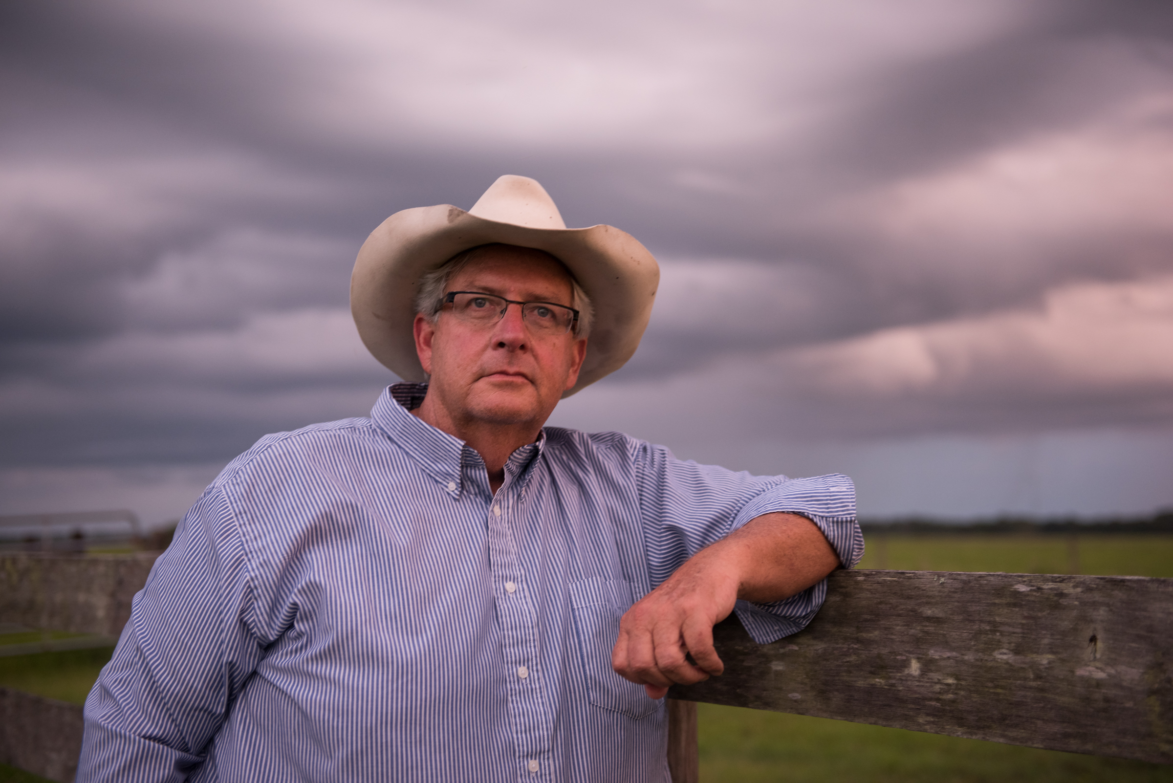 Former Florida Cattlemen's Association president Jim Strickland at his Blackbeard's Ranch east of Sarasota. Suburban development and phosphate mining threaten the ranch, which is listed as a priority for protection by a conservation easement by federal and state programs. Blackbeard's Ranch helps protect the headwaters of the Myakka River.