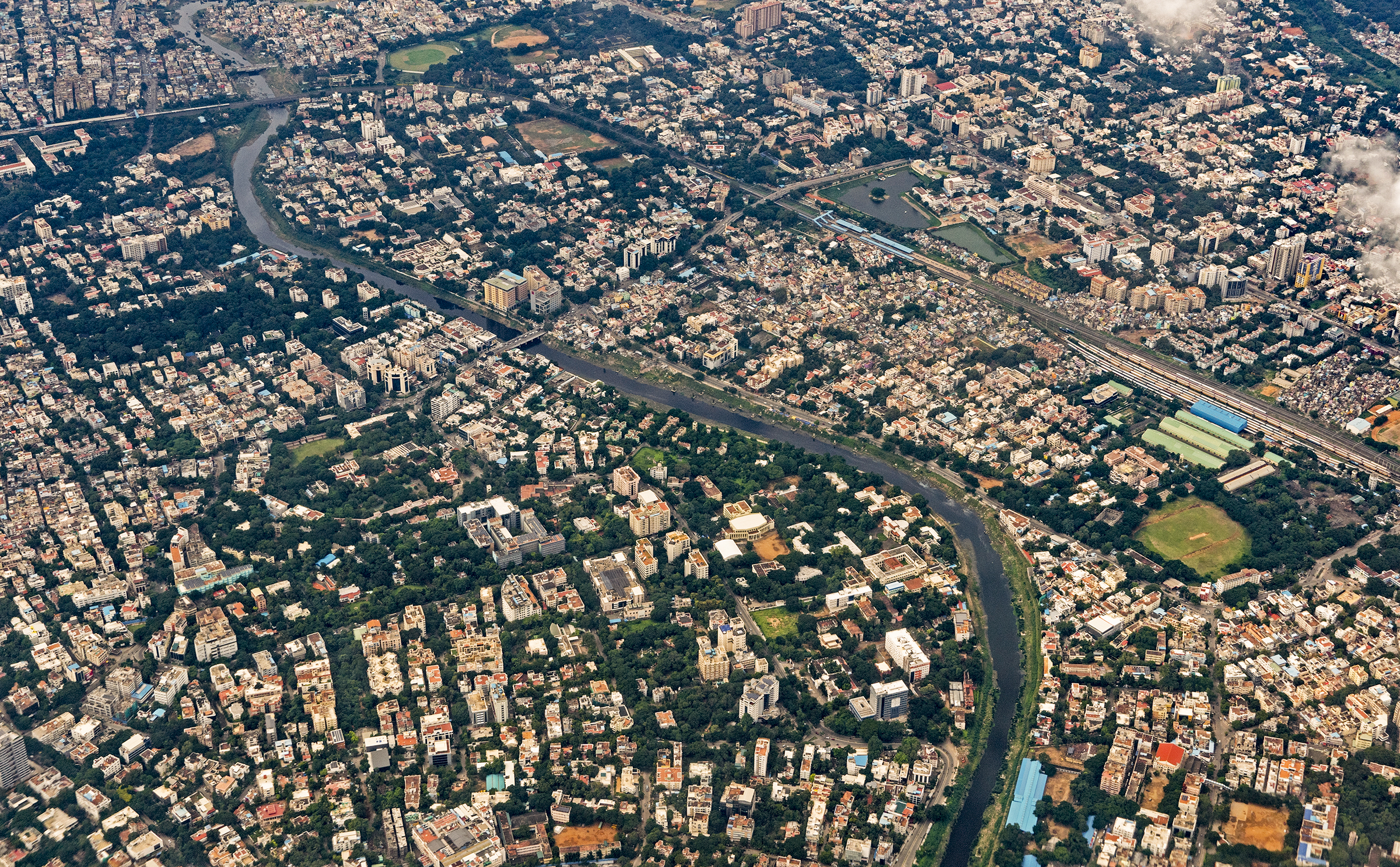 An aerial view of Chennai, India's fourth largest city.