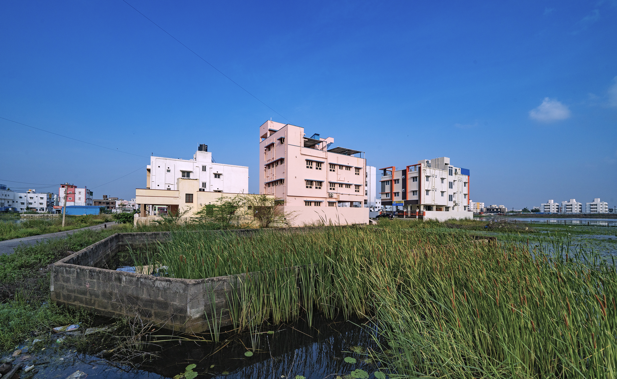 Development of malls, restaurants, hotels, hospitals, and information technology firms has reduced Pallikaranai Marsh to one-tenth of its original size.